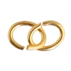 Jump Ring Oval 4X5mm 21gauge Plated Gold